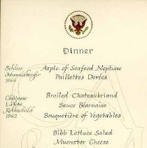 Image of 2003.006.00056 - Menu, Dinner
