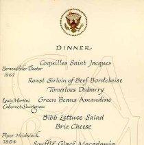 Image of 2003.006.00082 - Menu, Dinner