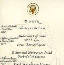 Image of 2003.006.00169 - Menu, Dinner