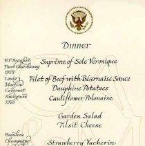 Image of 2003.006.00184 - Menu, Dinner