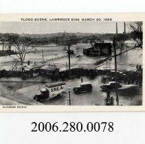 Image of 2006.280.0078 - Joe's Lunch; Flood Scene, Lawrence Dam, MARCH 20, 1936; Massachusetts