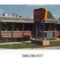 Image of 2006.280.0377 - Corner Diner Manno Dining Car Company Ad card; Belleville, New Jersey