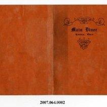 Image of 2007.064.0002 - Menu
