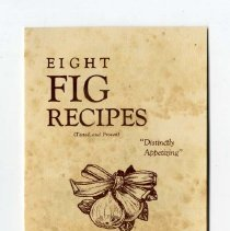 Image of 2008.085.0032 - Eight Fig Recipes