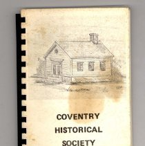 Image of 2009.200.0134 - Coventry Historical Society Cook Book