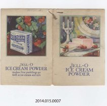 Image of 2014.015.0007 - Jell-o Ice Cream Powder