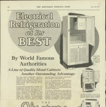 Image of 1989.401.0085 - Electrical refrigeration at its best, Absopure Frigerator, General Necessities Corporation, Detroit, Michigan