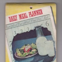 Image of 1989.110.0083 - Daily Meal Planner