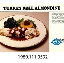 Image of 1989.111.0592e - Turkey Roll Almondine