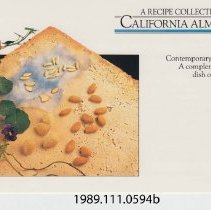 Image of 1989.111.0594b - A Recipe Collection California Almonds Contemporary. Convenient. A Complement to Every Dish on your Menu.