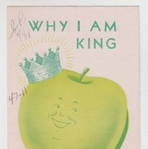 Image of 1989.111.0211 - Why I am King and Have Never Abdicated