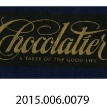 Image of 2015.006.0079 - Chocolatier: a taste of the good life