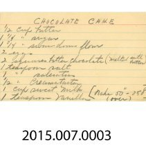 Image of 2015.007.0003 - Card, Recipe