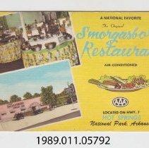 Image of 1989.011.05792 - The Original Smorgasbord Restaurant, National Park, Arkansas