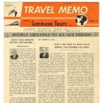 Image of 2010.197.0307 - Travel memo from Simmons Tours Inc.
