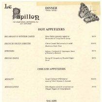 Image of 2005.086.2172 - Menu, Dinner