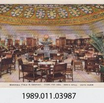 Image of 1989.011.03987 - Men's Grill, Marshall Field & Co,, Chicago, Illinois