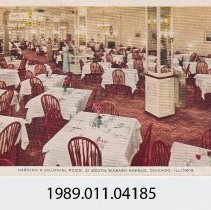 Image of 1989.011.04185 - Harding's Colonial Room, Chicago, Illinois