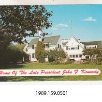 "Image of 1989.159.0501 - Home of the Late President John F. Kennedy. ""Kennedy Compoud"", Hyannisport, Cape Cod, Massachusetts."