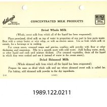 Image of 1989.122.0211 - Concentrated Milk Products (C-6)