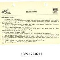 Image of 1989.122.0217 - Pie Pointers (C-8)