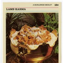 Image of 1989.127.0459 - McCall's Great American Recipe Card Collection: Lamb Karma