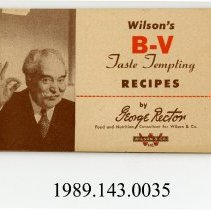 Image of 1989.143.0035 - Wilson's B-V Taste Tempting Recipes by George Rector