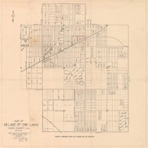 Image of 1955 Map of Oak Lawn - Map of Oak Lawn printed by the Edwin Hancock Engineering Co.  It was last revised in February of 1955 and has several pencil markings on it.