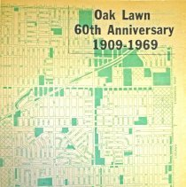 Image of 1969 Map of Oak Lawn - Partial map of Oak Lawn printed by the Oak Lawn Reporter in 1969.  The item is green in color, and was part of the Village's 60th Anniversary celebration.