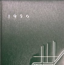 "Image of Shield, 1956 - This item is an Oak Lawn Community High School yearbook from 1956.  It has a dark green cover with ""1956"" and ""Shield"" in raised white lettering."