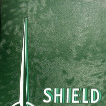 Image of Shield, 1960 - This item is an Oak Lawn Community High School yearbook from 1960.  It has a forest green cover, white lettering, and a geometric design.