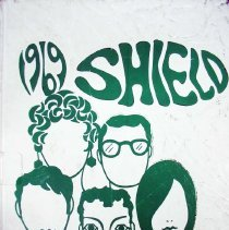 Image of Shield, 1969 - This item is an Oak Lawn Community High School yearbook from 1969.  It has a texturized white cover with green lettering and images.