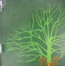 Image of Shield, 1970 - This item is an Oak Lawn Community High School yearbook from 1970.  It has a green texturized cover with orange lettering and an image of a tree.