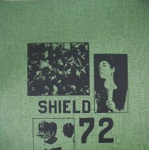 Image of Shield, 1972 - This item is an Oak Lawn Community High School yearbook from 1972.  It has a green cover with black lettering and pictures of students.