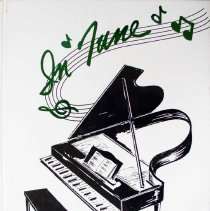 Image of Shield, 1996 - This item is an Oak Lawn Community High School yearbook from 1996.  The cover is white with green lettering and features the image of a piano.