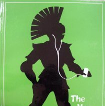 Image of Shield, 2007 - This item is an Oak Lawn Community High School yearbook from 2007.  The cover is lime green in color with a black silhouette of a Spartan soldier holding an IPod.
