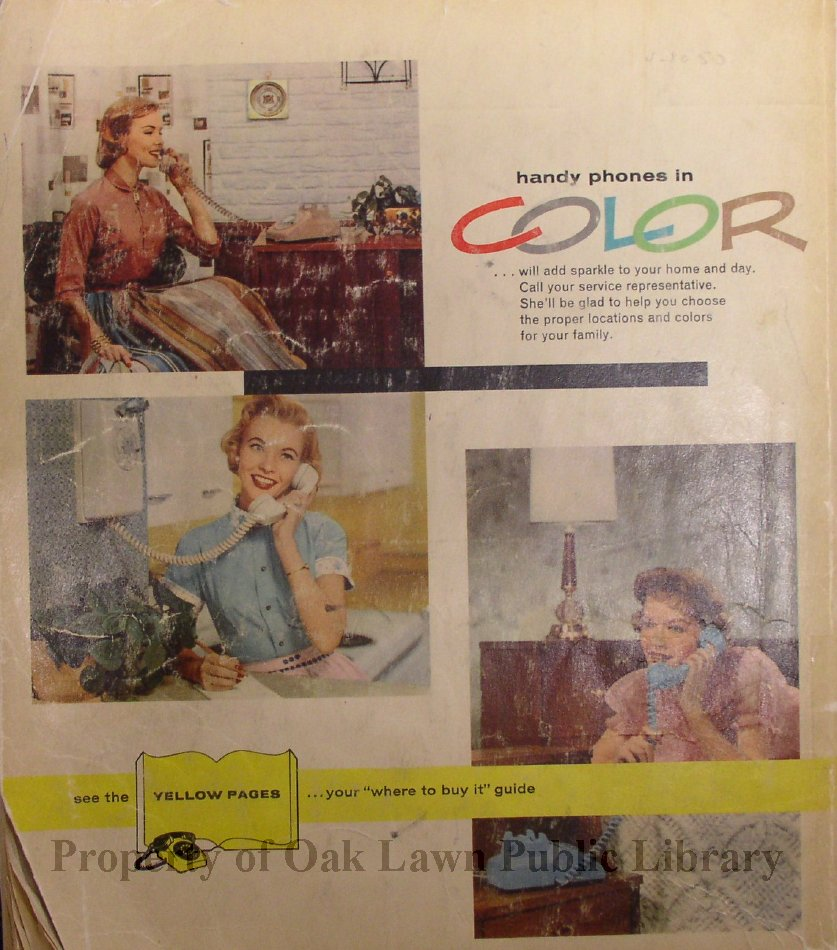 1959-1960, South Suburban Telephone Directory - This item is a