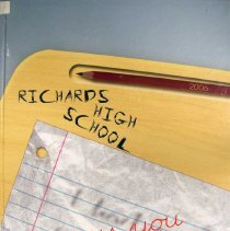 Image of Golden Year, 2006 - This item is an Harold L. Richards High School yearbook from 2006.  The cover has the image of a desk with a piece of paper on top of it.