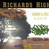 Image of Golden Year, 2009 - This item is an Harold L. Richards High School yearbook from 2009.  The cover has a picture of the school with writing over it.