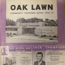 Image of 1970 - 1971, Oak Lawn Community Telephone Guide - This item is an Oak Lawn Community Telephone Guide published in 1970.  The cover is a light purple with white and black lettering.