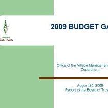 Image of Village Budget Gap, 2009