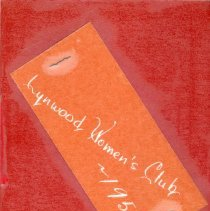 Image of 1957 Lynwood Women's Club Directory