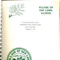 Image of Village of Oak Lawn Annual Report, 1985