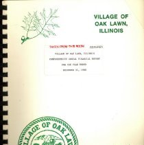 Image of Village of Oak Lawn Annual Report, 1988