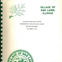 Image of Village of Oak Lawn Annual Report, 1992
