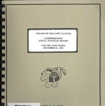 Image of Village of Oak Lawn Annual Report, 1995