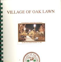 Image of Village of Oak Lawn Annual Report, 2001