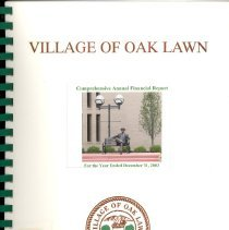 Image of Village of Oak Lawn Annual Report, 2003
