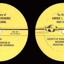 Image of Harold L. Richards High School Dedication Record