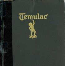 "Image of Calumet High School Yearbook, Temulac, 1927 - This item is a 1927 ""Temulac"" yearbook from Calumet High School in Chicago Illinois.  The cover is black with gold lettering.  Prior to the opening of the Oak Lawn High Schools, some local residents attended Calumet High."